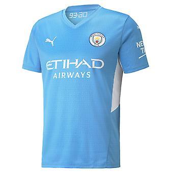 Puma Manchester City 2021/22 Miesten Lyhythihainen Koti JalkapalloPaita Sininen