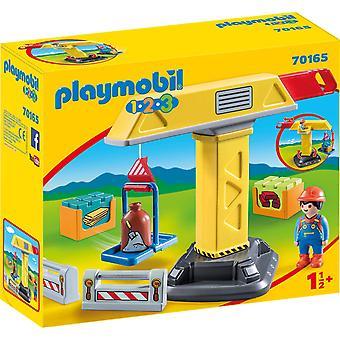 Playmobil 70165 1.2.3 Byggkran för barn 18m+