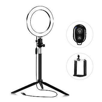 16cm 3200K-5600K Bi-color Dimmable Beauty Light Set Ring Video Light 5W