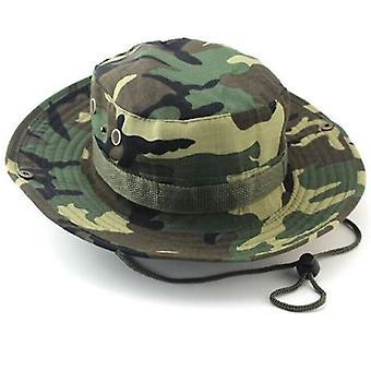 Classic Us Combat Army Style Gi Boonie Bush Viidakkohattu, Aurinkokalastuslakki (Naamiointi)