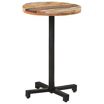 """שולחן ביסטרו vidaXL עגול Ø50x75 ס""""מ עץ שיובש מוצק"""