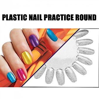 Acrylic Nail Art Tips Palette Practice Displaying Wheels Practice Nail Design