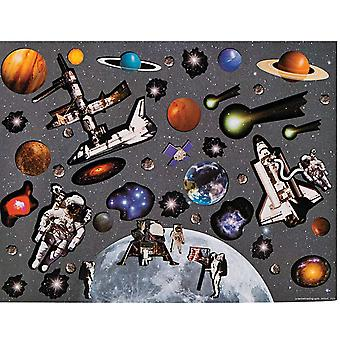 LAST FEW - 12 Design Your Own Moon & Space Sticker Scenes for Kids
