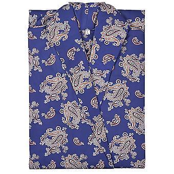 Bown of London Gatsby Paisley Print Puuvillakylpytakki - Sininen