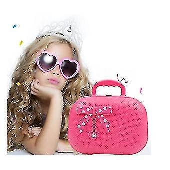 Pretend Makeup Kit For Girls, Kids Makeup Kit Toy Including Pink Princess Purse