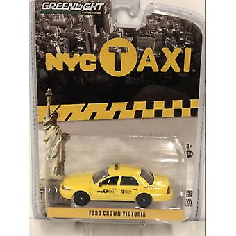 2011 Ford Crown Victoria New York Taxi Jaune 1:64 Feu vert 29773