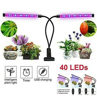 40 LEDs promovem planta de luz 2 lâmpadas de crescimento de cabeça lâmpadas usinas hidropônicas