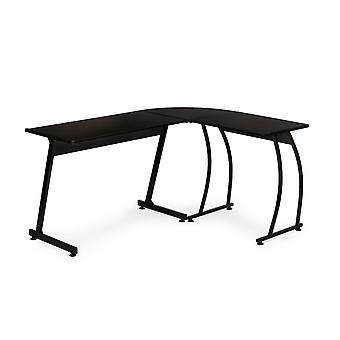 Gaming hjørne skrivebord - sort - 148 x 48 x 74 cm