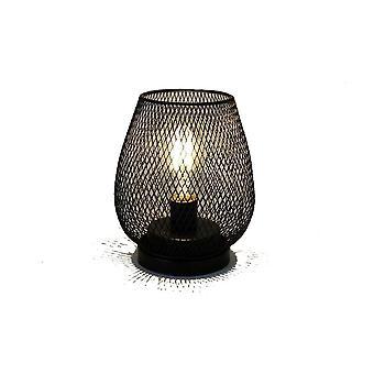 Birdcage Decorative Table Lamp Iron Art Retro Minimalist LED Light for Bedroom