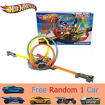 Roto Revolution Track Set & Fast Racing Metal Cars Plastic Track Safe Toy