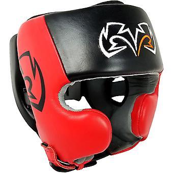 Rivalen Sie, Boxen RHG20 Training Kopfbedeckungen mit Wange Protektoren - schwarz/rot
