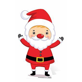 Mini Santa Christmas Theme Cardboard Cutout / Standee / Stand Up