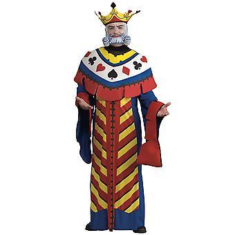 משחק כרטיס המלך אליס בארץ הפלאות פוקר דלוקס שבוע הספר תלבושות Mens
