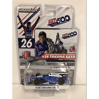 Takuma Sato Indycar No26 Indy 500 Vainqueur 2017 1:64 Greenlight 10795