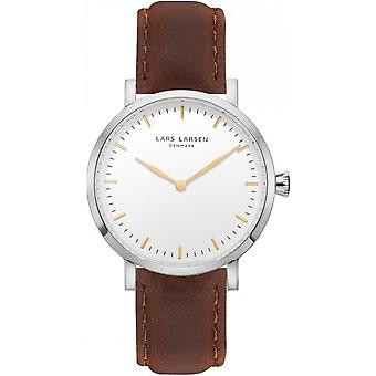 LLarsen (Lars Larsen Brown Genuine Leather) 144SWG-BS18 Women's Watch