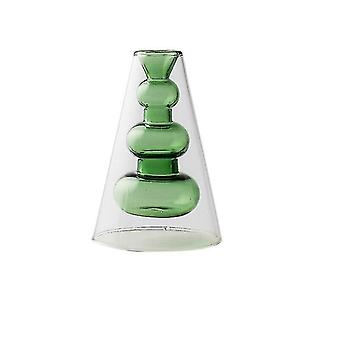 Vases nordic design creative double stained glass decor vases green