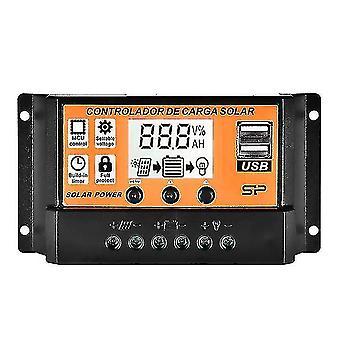 Metal detectors 10a/20a/30a/40a/50a/100a auto solar charge controller lcd dual usb solar panel regulator output