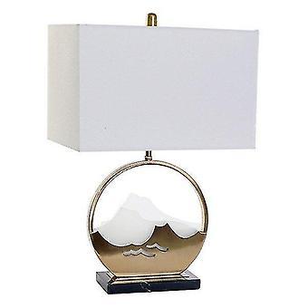 Speaker components kits desk lamp acrylic linen metal marble oriental 41 x 23 x 62 cm