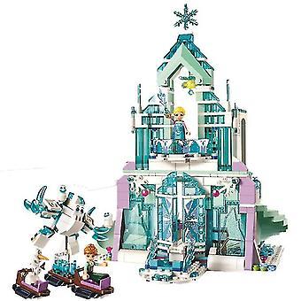 Età 3+, 360 pezzi disney frozen principessa elsa e anna costruzione modelli blocchi set per bambini(9)