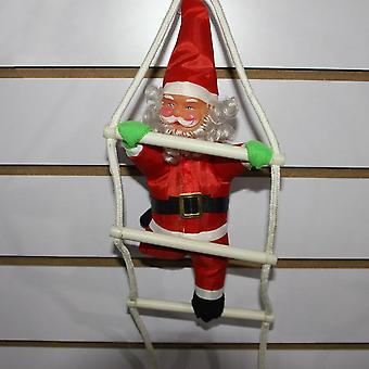 Санта Клаус поднимается по лестнице Рождественская елка Украшение Большой размер с лестницей