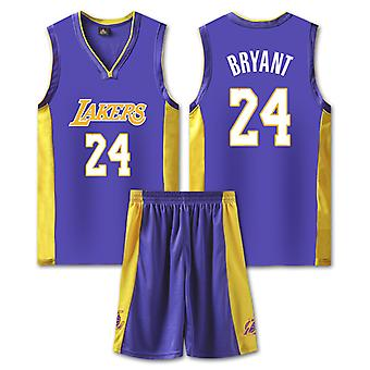 Kobe Bryant Jersey No.24 Jersey Suit Basketball Set(child Size)