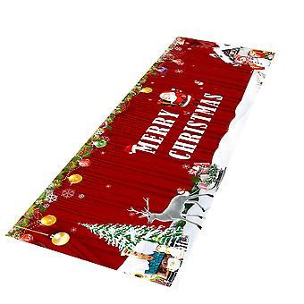 Homemiyn عيد الميلاد الفانيلا الكلمة حصيرة، لينة غير زلة عيد الميلاد زخرفة السجاد للمطبخ وغرفة المعيشة
