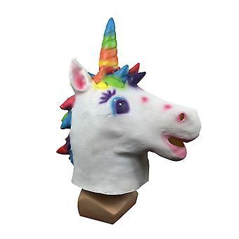 Halloween Party Latex Mask Stage Performance Rekwizyty Kolor Maska Jednorożca Cos Dress Up