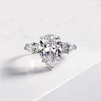 Zircon Women Silver Ring For Occasion