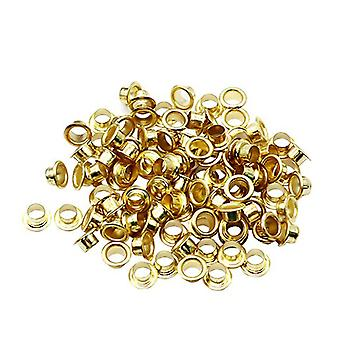 100pcs 10mm Titanium Eyelets Washer Leather Diy Shoes Cloth Craft Repair Grommet