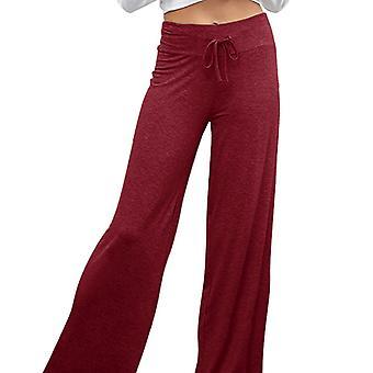 Damskie spodnie do jogi Szerokie nogawki Rozkloszowana elastyczna talia Sportowe spodnie Fitness Palazzo