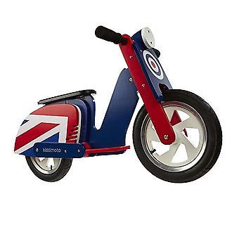 Kiddimoto Brit Pop Scooter Wooden Wooden Balance Bike 2yrs+