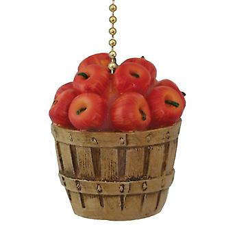 Bushel Basket Full of Red Apples Ceiling Fan Pull or Light Pull Chain