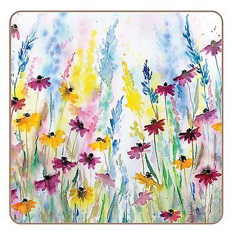 I Style Daisy Field Coasters, Set of 4