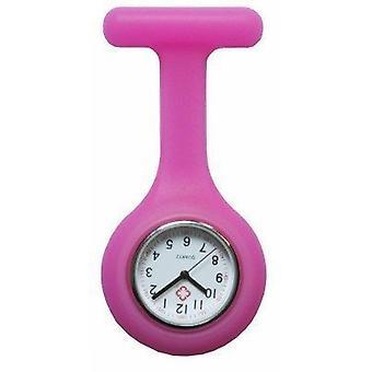 Nueva moda de silicona enfermeras broche túnica Fob Watch por Boolavard TM. (7 - rosa)