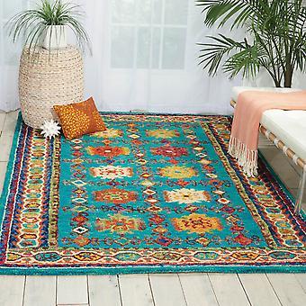 Vib09 żywe dywany w Teal przez Nourison