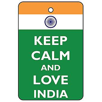 Keep Calm And Love India Car Air Freshener