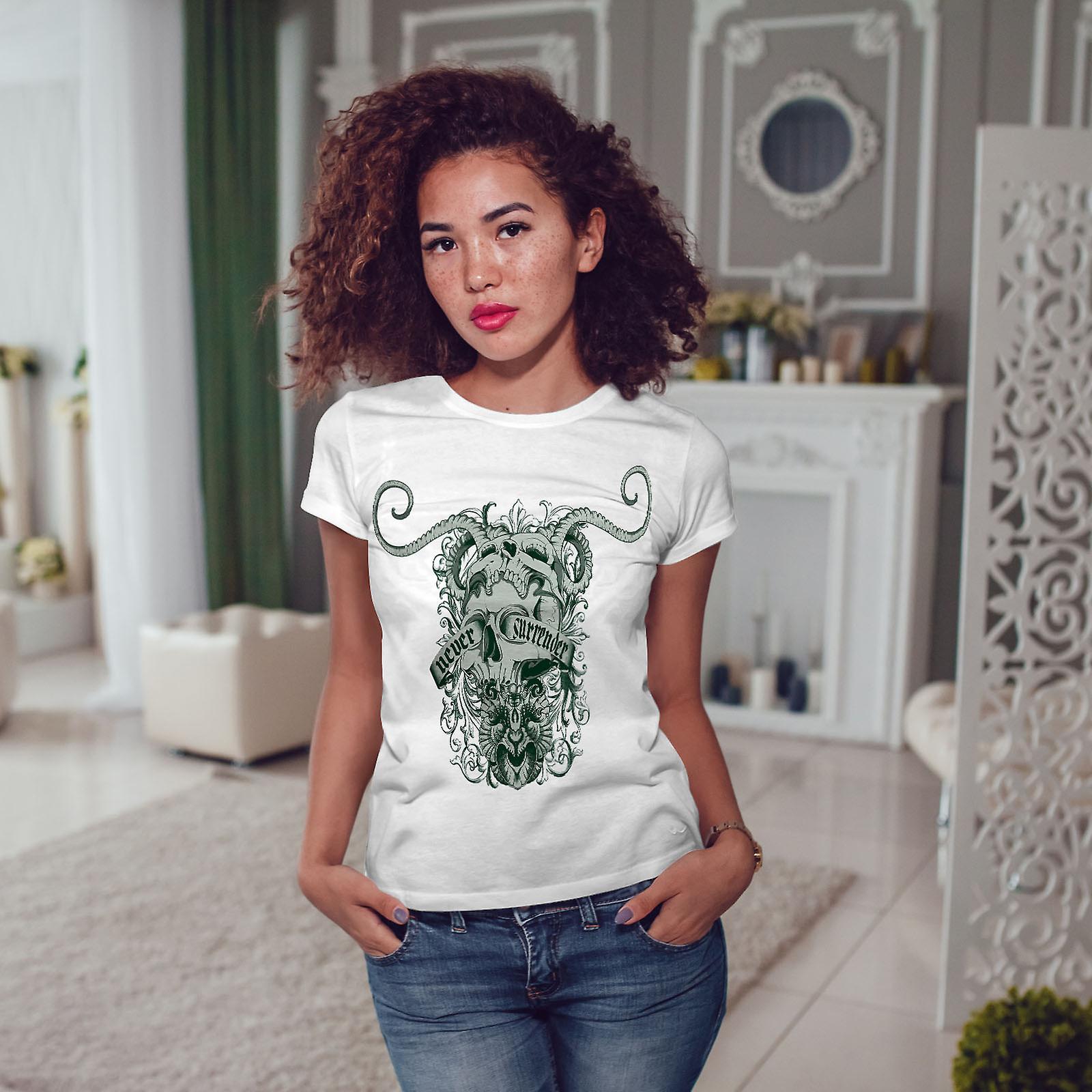 Ne jamais abandonner Art WhiteT-shirt femme | Wellcoda