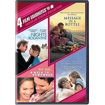 4 Film Favorites: Nicholas Sparks Collection [DVD] USA import