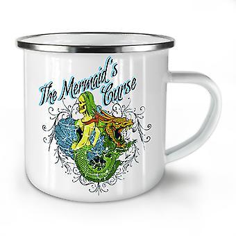 Mermaid Zombie Horror NEW WhiteTea Coffee Enamel Mug10 oz | Wellcoda