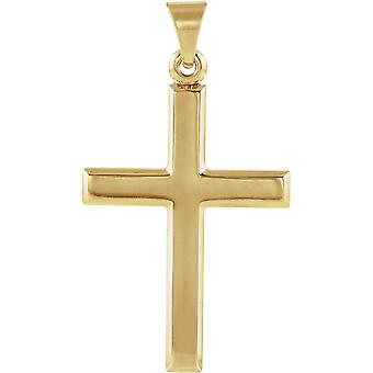 14 k Gelb Gold Kreuz Anhänger 26x19mm - 2,3 Gramm