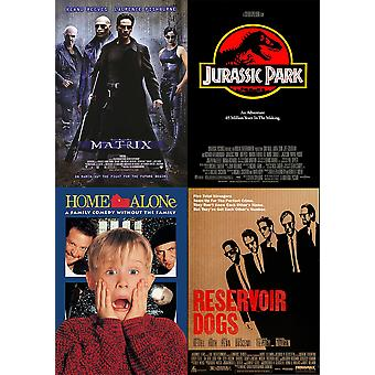 Classic 90s Movie Poster Photo Print Film Cinema Wall Decor Fan Art A0 A1 A2 A3 A4