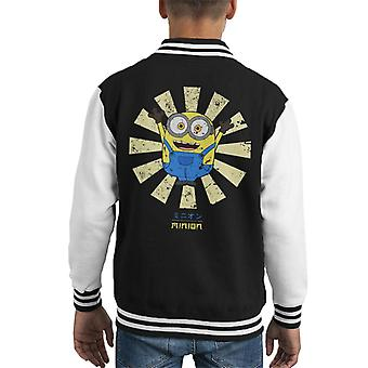 Minion Retro Japanese Kid's Varsity Jacket