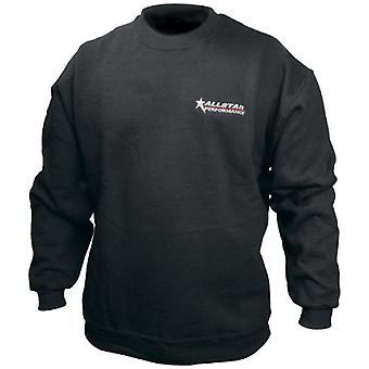 Allstar ALL99912XXL XX-Large Black Embroidered Sweatshirt with Small Allstar Logo on Left Chest