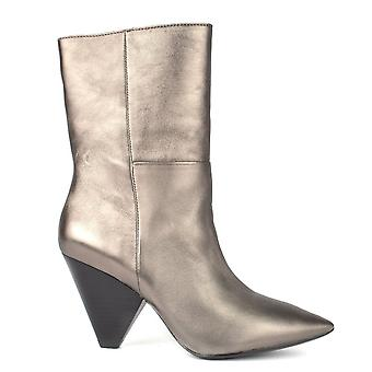 Ash Footwear Doll Metallic Stone Leather Cone Heel Boot