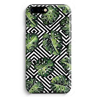 iPhone 8 Plus pełna obudowa głowiczki (błyszcząca) - dżungla geometrycznej