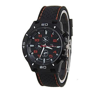Men Black And Orange Sports GT Watch