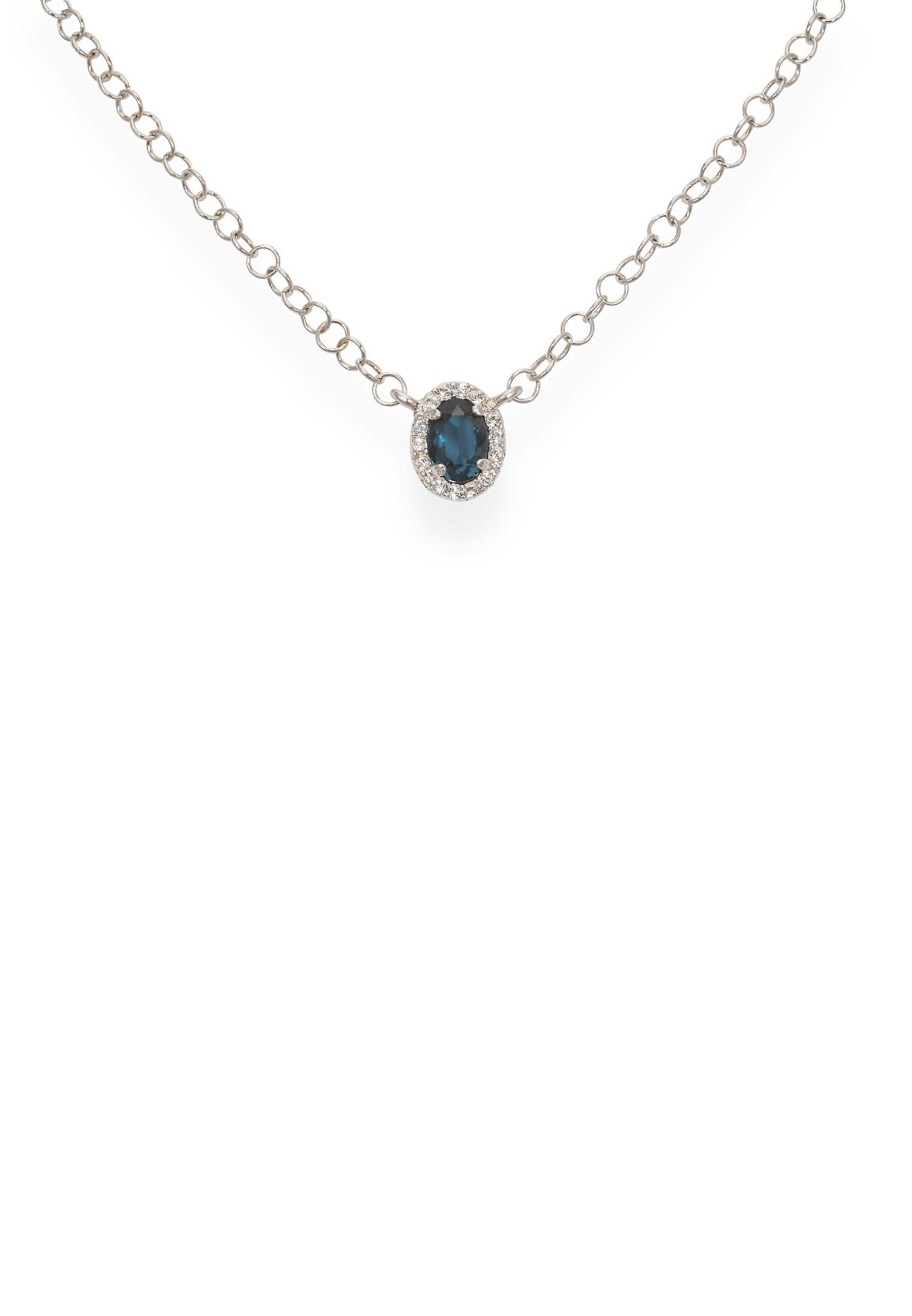Blue pendant with crystals from Swarovski 9265