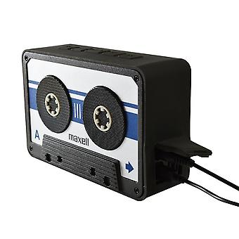 Maxell BT90 Retro Cassette Bluetooth v 4.1 Speaker Silver/Black