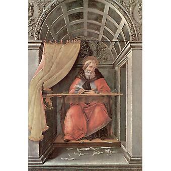 Sint-Augustinus in zijn studie, Sandro Botticelli, 60x40cm
