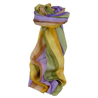 Mulberry Silk Classic Long Scarf Prasad Rainbow Palette by Pashmina & Silk